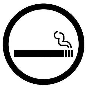 A symbol that signifies smoking is allowed.