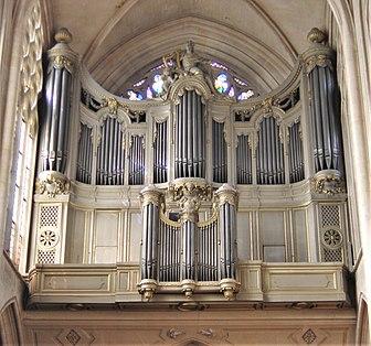 Orgue de l'église Saint-Germain-l'Auxerrois à Paris (France).(résolution réelle 2592×1944)