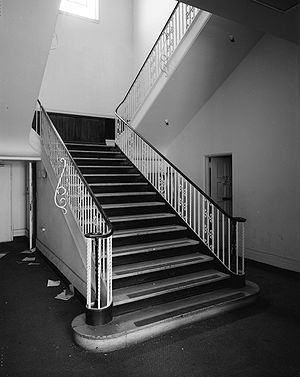 Stairway in Ford plant in LA from HABS; Ford M...