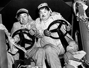 English: Laurel and Hardy in The Flying Deuces...