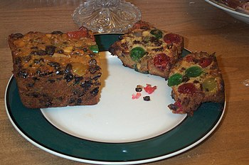 An American version of a fruitcake which conta...