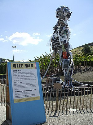 English: Weee Man, Eden Project WEEE stands fo...