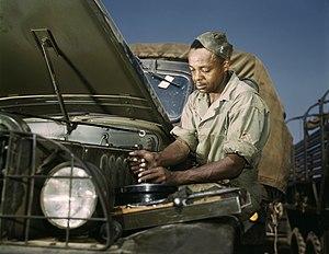 """Original caption """"Colored mechanic, motor..."""