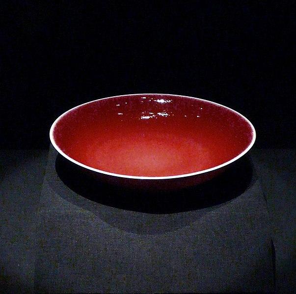 File:China ceramics red plate.JPG
