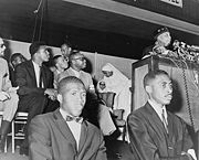 Ali at an address by Elijah Muhammad