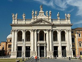 English: Main façade of the Basilica of St. Jo...