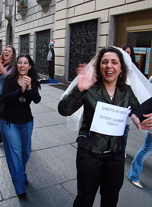 bride, on a Bachelorette party, Turin, Italy t...