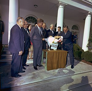 President John F. Kennedy at the annual White ...