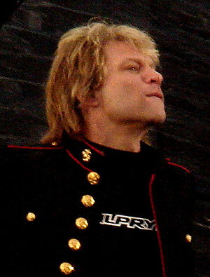 Jon Bon Jovi on stage live at Dublin May 2006.