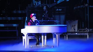English: Bieber at his concert in Ahoy Rotterd...