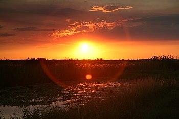 Sunset in Loxahatchee National Wildlife Refuge...