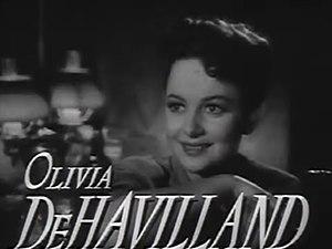 Cropped screenshot of Olivia de Havilland from...