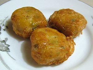 Perkedel kentang dengan daging