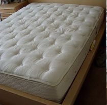 A pillowtop mattress (U.S. size