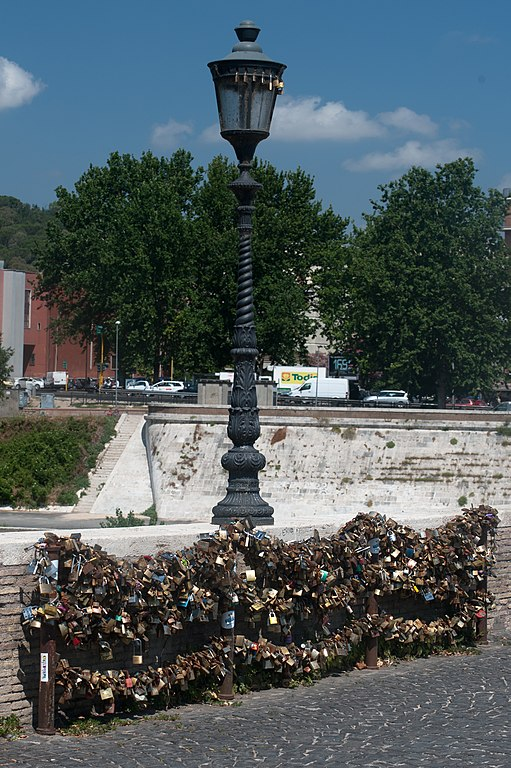 Ponte Milvio love padlocks