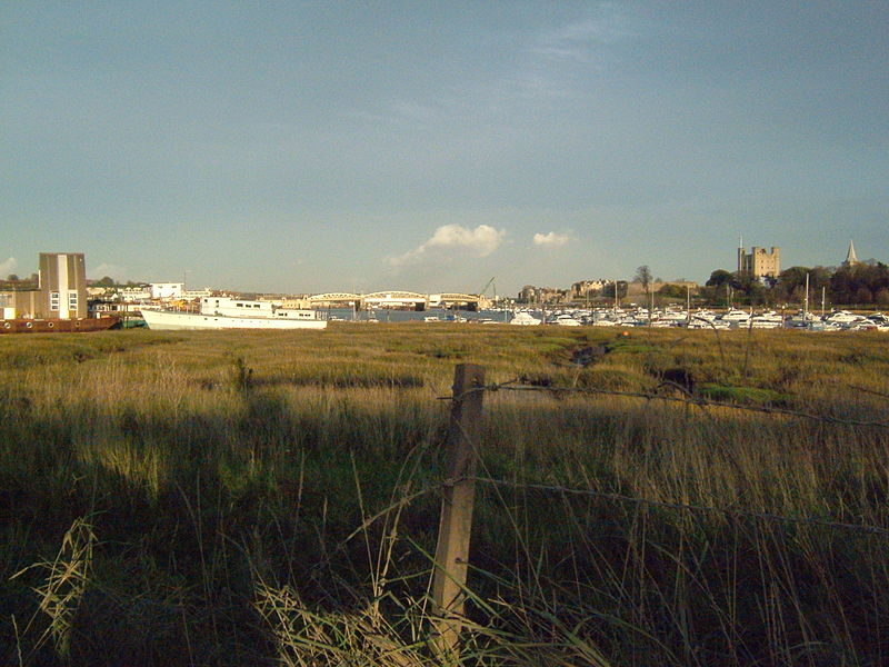 Looking over Temple Marsh, Strood