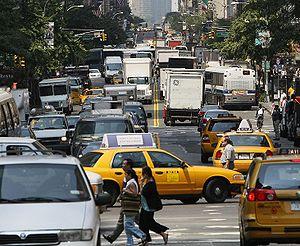 Rush hour in Manhattan, New York City