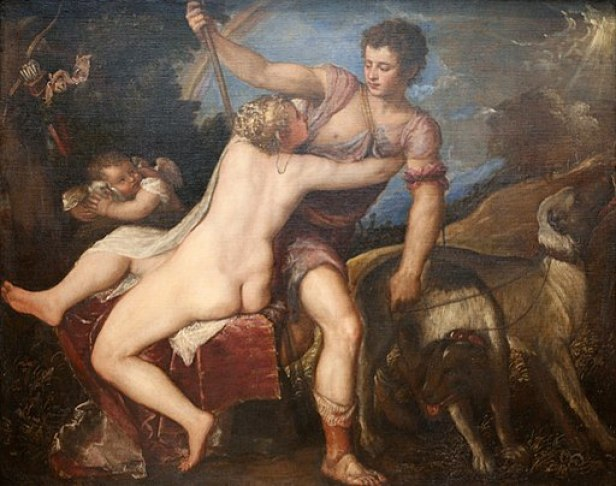 """""""Venus and Adonis"""" by Titian"""