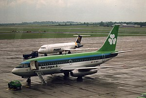 English: Aer Lingus (EI-BDY) Boeing 737-200 ai...