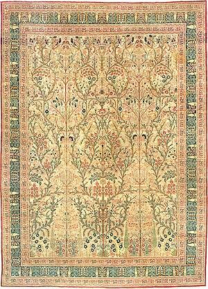 English: Antique Tabriz Persian Rug