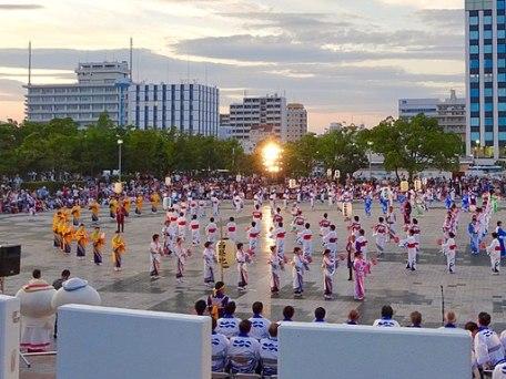 Bon dance at Nagoya Port Festival