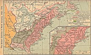 Map of the British colonies in North America, ...