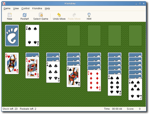 English: A GNOME version of Klondike (solitaire).