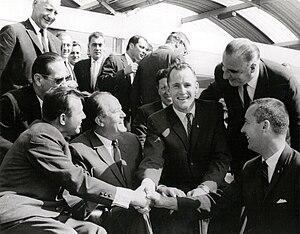 Gemini 4 Astronauts Meet Yuri Gagarin