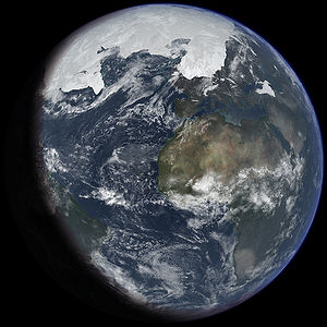 Ice age Earth at glacial maximum. Based on: &q...