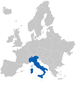 The Italophone Europe Blue: Native language Li...