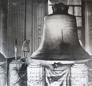 The Liberty Bell in 1872
