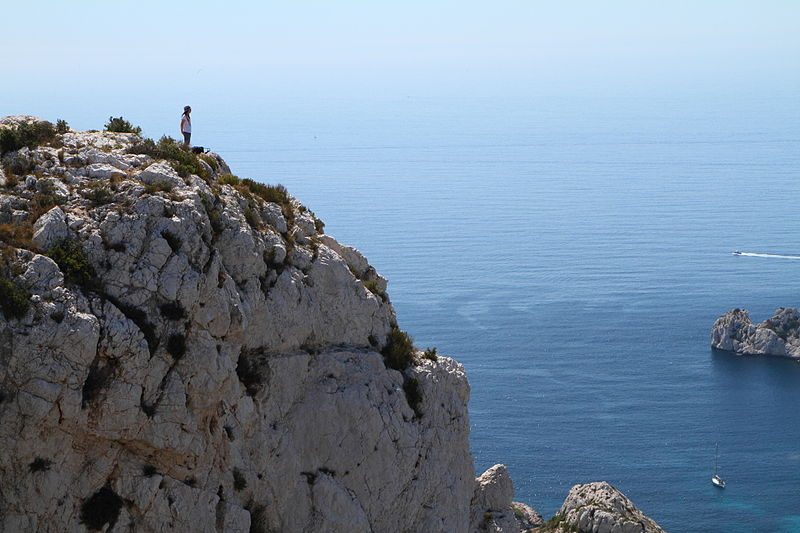 File:Marseille Girl Looking Over Calanque Sormiou.jpg