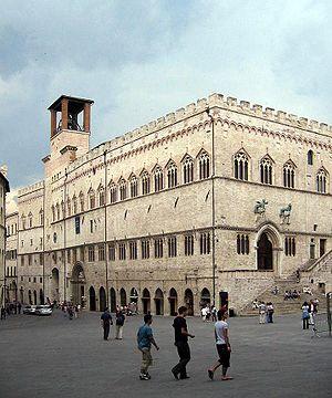 Palazzo dei Priori, Perugia, Umbria, Italy.