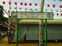 Identificativo (parte delantera) de una de las calles de la Feria.