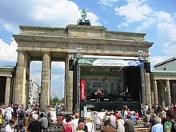 Stage in front of the Brandenburg Gate on Environmental Festival 2011