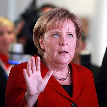 Angela Merkel during the opening ceremony of M...