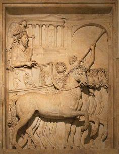 Emperor Marcus Aurelius (161-180 AD) at his tr...