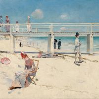 """A Holiday at Mentone"" by Charles Conder"