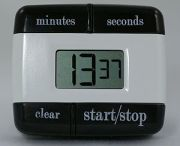 A digital timer for kitchen use.