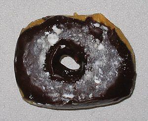 Donut, chocolate glazed