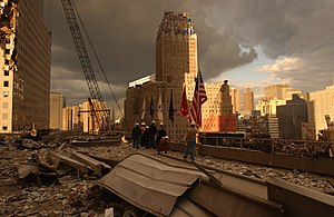 New York, NY, September 28, 2001 -- Debris on ...