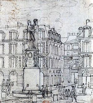 Français : Vue de la place Dauphine et de la f...