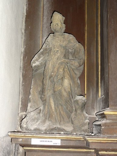 Liessies (Nord, Fr) église, statue Louis de Blois.jpg