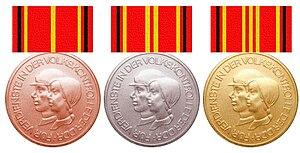 Deutsch: Medaille für Verdienste in der Volksk...