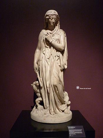 Statue of Rachel, the daughter of Laban