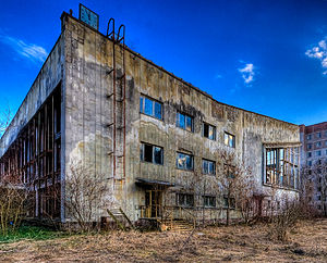 the public swimming pool in the ghost town of ...