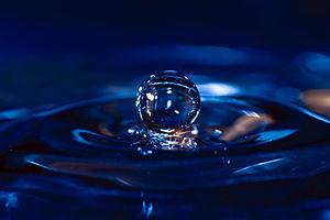 Water drop, single