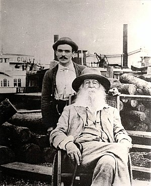 Walt Whitman and his male nurse Fritzenger