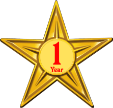 Barnstar of One Year Diligence