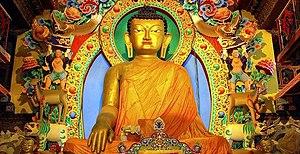 Buddha icon in Twang, India